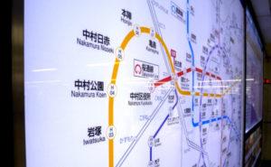 名古屋の地下鉄路線図